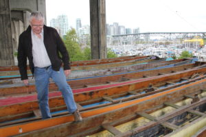 Ed Campbell, the project supervisor, Original Wooden Dragon Boat Restoration Project